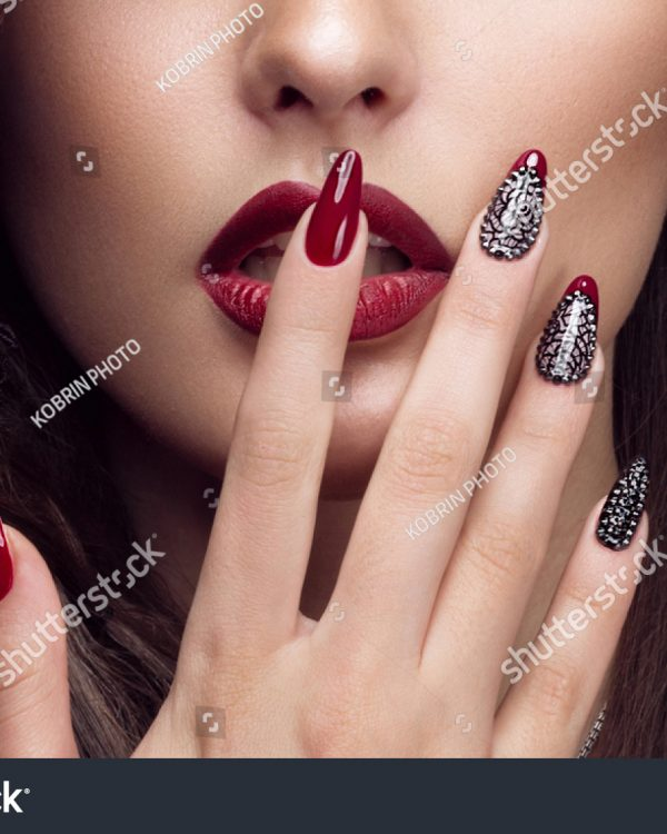 stock-photo-pretty-girl-with-unusual-hairstyle-bright-makeup-red-lips-and-manicure-design-beauty-face-art-362312975